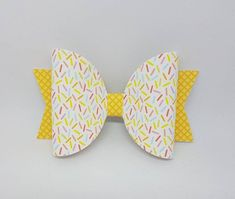 ice cream hair bow Cream Hair Bows, Pink Hair Bows, Ladies Gifts, Handmade Shop, Handmade Gifts, Fabric Gifts, Etsy Business, Baby Girl Gifts, Beautiful Clothes