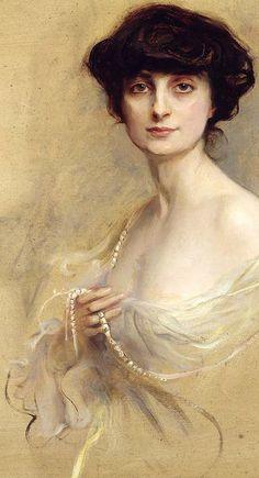 Anna De Noailles By Philip Alexius De Laszlo - Poétesse et romancière française - 1876-1933 - Première femme Commandeure de la légion d'honneur - L'Académie française crée un prix à son nom                                                                                                                                                                                 Plus