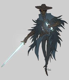 Spooks, the hunter. Fantasy Character Design, Character Design Inspiration, Character Concept, Character Art, Concept Art, Character Ideas, Dnd Characters, Fantasy Characters, Fantasy Creatures