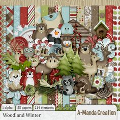 Woodland Winter Kit   #digiscrap #theStudio #DOTD