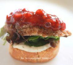 An Accomplished Woman: Pecan–crusted Pork Tenderloin Crostini
