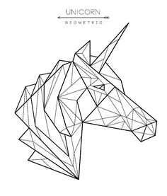 Find Geometric Unicorn Head Tattoo Tshirt Design stock images in HD and millions of other royalty-free stock photos, illustrations and vectors in the Shutterstock collection. Geometric Drawing, Geometric Designs, Geometric Shapes, Geometric Animal, 3d Zeichenstift, Kopf Tattoo, Unicorn Drawing, Tape Art, Unicorn Head