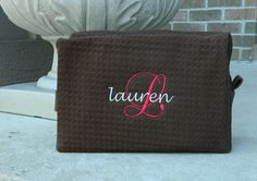 Large Monogrammed Cosmetic Cases - Personally Made to Order, Bridesmaid, Mother's Day, Teacher's Gift
