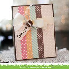 Lawn Fawn - Let's Polka Mon Amie, Flirty Frames _ card by Latisha for Lawn Fawn Design Team