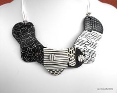 Polymer clay necklace | Inspired by zentangles | Flickr