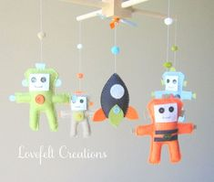 Baby mobile - Robots mobile - space mobile - rocket mobile