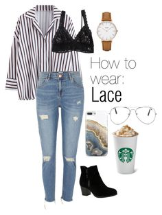 """""""How to wear: Lace"""" by nata-88-01 on Polyvore featuring Hanky Panky, River Island, CLUSE, Skechers, Nanette Lepore and Nasty Gal"""