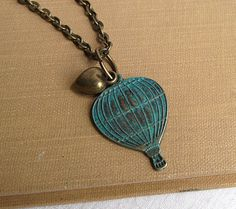 Hot air balloon necklace  hot air balloon  by FleetwoodandCo, $21.00