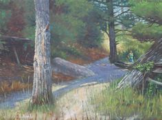 """Trail in Yellowstone Park"" Yellowstone Park, Trail, German, Painting, Art, Deutsch, Art Background, German Language, Painting Art"