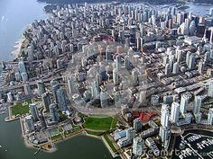 Canada - British Columbia - Vancouver - Aerial view of Downtown