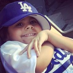 THINK BLUE: My beautiful creation! #Dodgers#baseball#sports#fan#LosAngeles#baby#raised#born#shewill#have#WhatIdidnt#smile#love#thankful#blessed#familia#DTLA#kiki#Pray#Faith#Giants#lostthis#game#Latepost!  by 12abia