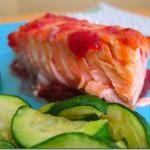 salmon with raspberry glaze