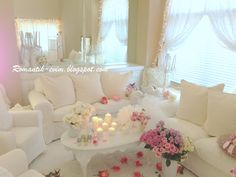 Romantic living room design - Romantic living- Romantic Valentine's day Home Decoration Romantic Ev dizayn, Romantik sevgililer gunu ev dekorasyon!