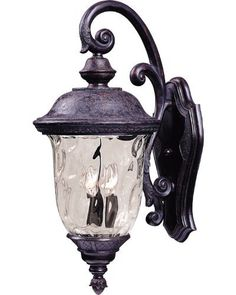 Maxim Lighting 40496WGOB Carriage House VX 2-Light Top Mount Outdoor 20-Inch Wall Lantern, Oriental Bronze Finish by Maxim Lighting. $131.14. From the Manufacturer                The Maxim Lighting 40496WGOB Carriage House VX Collection 2-light Outdoor Wall Lantern is made with Vivex, a material twice the strength of resin, which is non-corrosive, UV resistant and backed with a 3-Year limited warranty and finished in an oriental bronze while being paired with a beautiful...