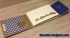 Mini album Leporello with instructions - Today I have a cute mini album with a Laporello fold for you. It is suitable for photos up to 15 x - Ideas Scrapbook, Scrapbook Journal, Scrapbook Designs, Baby Scrapbook, Scrapbook Supplies, Scrapbook Cards, Mini Albums, Paper Lace, Handmade Books