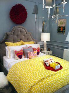 Johnathan Adler bedroom display in Atlanta store.