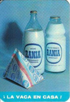 Leche Rania, en botella de boca ancha, de boca estrecha y en bolsa de cartón.