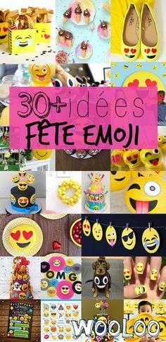 Plus de 35 idées pour vous inspirer dans la création d'une fête d'enfant sous le thème EMOJI