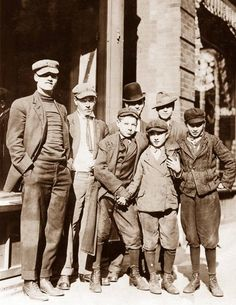 Knickerbocker Gang of Boys Newsies Group of Men Vintage Sepia Photo Instant Digital Down Cool Stuff, Vintage Photographs, Vintage Photos, Vintage Stuff, Vintage Boys, Candy Factory, Scrapbook Designs, Working Class, Library Of Congress