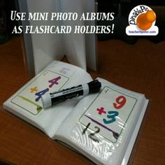 Great flashcard practice idea!   found on teachertipster.com I need to make these for my Math Fact Tubs (guided math rotation station).
