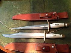 Vintage-RANDALL-Knives-KING-FAISAL-set-THORP-BOWIE-ARKANSAS-TOOTHPICK-Gorgeous