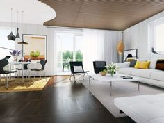 Bright-Modern-Apartment-Interior-Ideas-of-Open-Living-Area-with-Wood-Ceiling-Striped-Accents.jpg (560×420)