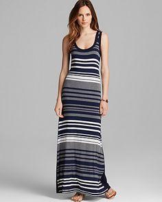 Karen Kane Multi Stripe Maxi Dress | Bloomingdale's