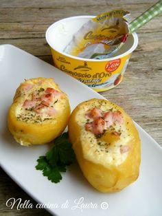 patate ripiene al forno con formaggio cremoso - nella cucina di laura