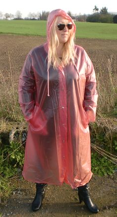 Raincoats For Women Polka Dots Pink Raincoat, Plastic Raincoat, Plastic Pants, Girls Wear, Women Wear, Imper Pvc, Plastic Mac, Rain Suit, Shopping