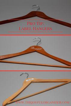 Pro Tip: Label Hangers