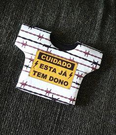 Camisetinha térmica de latinhas - CUIDADO, ESTA JÁ TEM DONO -
