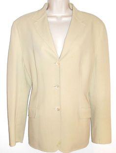 Piazza Sempione Blazer Jacket US 10 12 Wool Beige #PiazzaSempione #Blazer