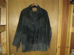leather jacket with fringe #size40