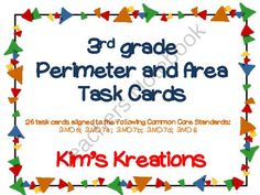 3rd Grade Perimeter and Area Task Cards (cc aligned) from Kim's Kreations on TeachersNotebook.com -  (19 pages)  - 3rd Grade Perimeter and Area Task Cards (cc aligned)