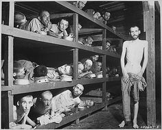 Prisoners in a concentration camp WWII