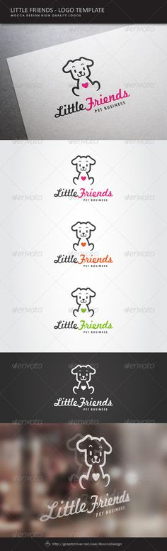 Little Friends  Logo Design Template Vector #logotype Download it here: http://graphicriver.net/item/little-friends-logo/5019785?s_rank=105?ref=nexion