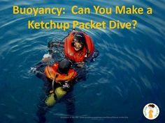Diving Ketchup Demonstration/ Inquiry Lesson Plan. Can be easily adapted to several different age levels to practice inquiry and basic lab skills in a fun way.  A great start to the year!