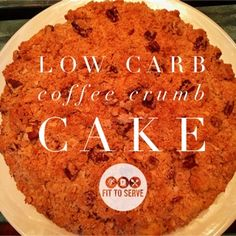 Am I allowed to say how much I love this recipe? It's coffee cake people! Not just any coffee cake, a low carb crumb one! I don't know about you, but I have always loved coffee cakes. I believe my love for coffee cake stems from my first experiences with coffee.