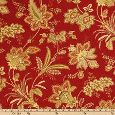 Waverly Barano Vintage Red Fabric