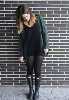 hunter  , Mango in Sweaters, Mango in Pants, Hunter in Boots, Zara  a/w 2011 in Bags