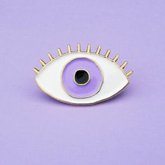 Hey, I found this really awesome Etsy listing at https://www.etsy.com/listing/247895312/purple-eye-pin