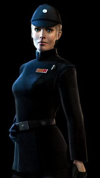 Juno Eclipse, from The Force Unleashed. I dunno, guess it'd be fun to make a female Imperial Navy costume.