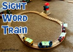 Sight Words-  Does your child have sight words he/she needs to memorize?  Why not make it fun and let them play while learning...here's how...  Jugglingwithkids.com