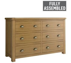 Buy Heart of House Kent 3 + 3 Drawer Chest at Argos.co.uk - Your Online Shop for Chest of drawers, Bedroom furniture, Home and garden.