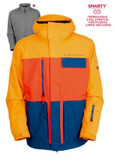 686 AUTHENTIC SMARTY FORM SNOWBOARD JACKET SAMPLE 2016 IN BURNT ORANGE COLORBLOCK MEDIUMBrand New Showroom Sample With Tags Snowboards Mensnowboardjacket