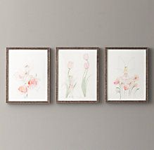 Fairy Flower illustrations Wall Art | Restoration Hardware Baby & Child