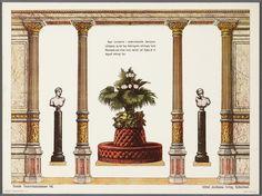 Bouwplaat van een papieren theater voorstellende een decor
