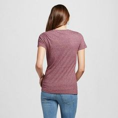 Women's Short Sleeve Essential Crew Tee Burgundy Triblend Xxl - Mossimo Supply Co.