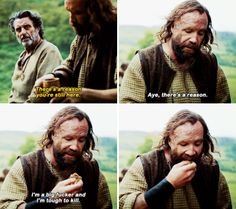 """""""There's a reason you're still here"""" - Sandor & Brother Ray #GameOfThrones ((What a surprise he's back!!))"""