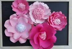 RTS Large Paper Rose Paper Flower Photo Prop by PoshStudios